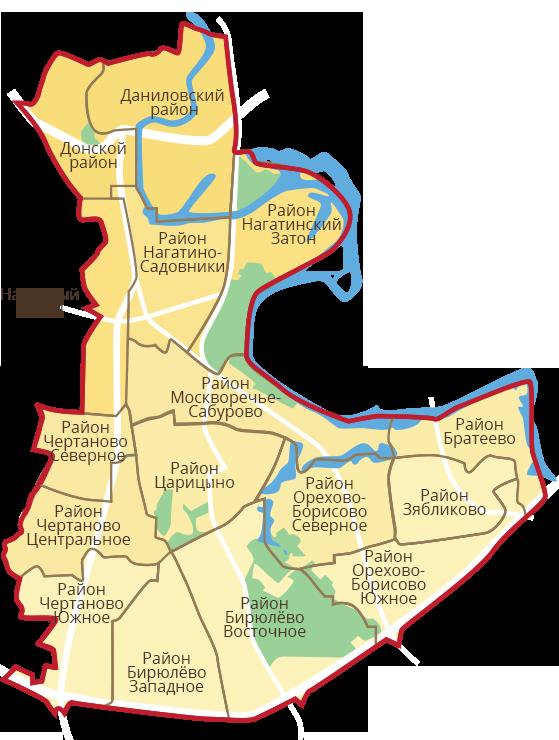 Карта регионов CAO