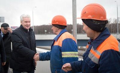Собянин дал старт движению на новой развязке МКАД с Ленинским проспектом