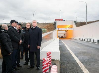 Собянин дал старт движению по новому тоннелю на пересечении МКАД с Рязанским проспектом