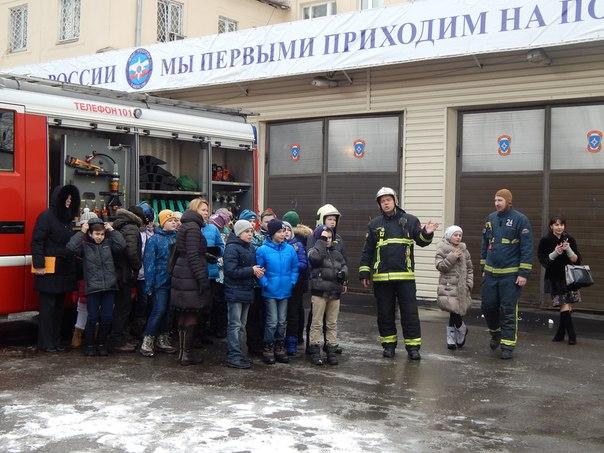 О профессии пожарного узнали учащиеся школы №1862