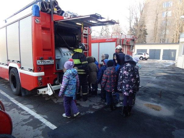 Школьники посетили пожарную часть №24