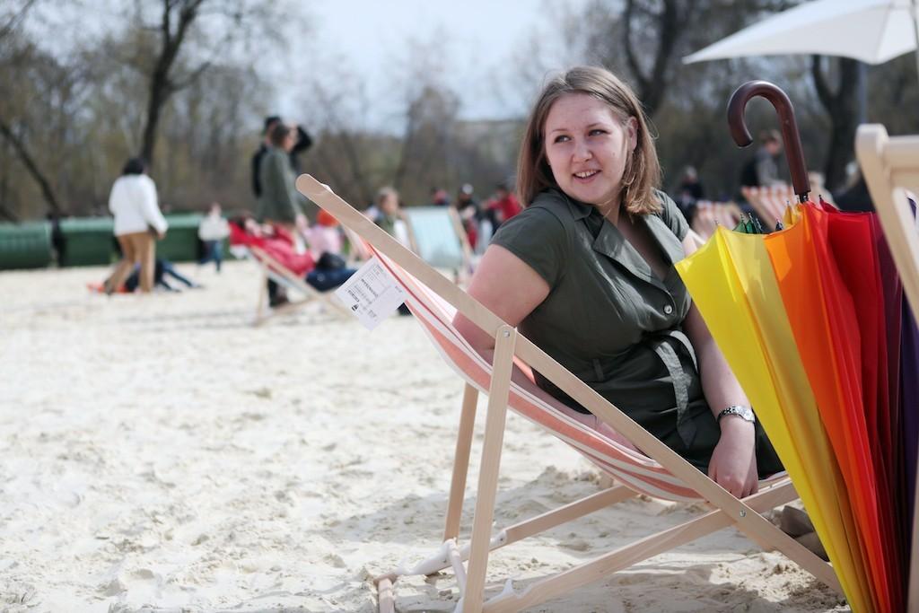 Пляжная зона открылась в парке «Сокольники»