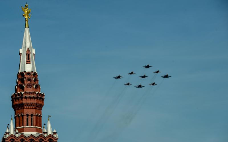 В столице закончилась первая репетиция воздушной части парада Победы