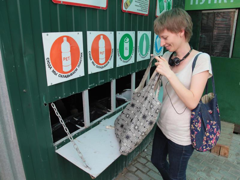 Пункты раздельного сбора бытовых отходов заработали в Нагорном районе