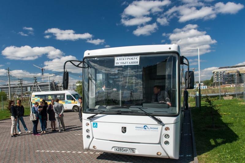 В Москве протестировали электробус «КамАз»