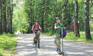 22 июня 2016 года. Каждые выходные в дендропарке собираются любители покататься на велосипедах — благо дорожек там очень много
