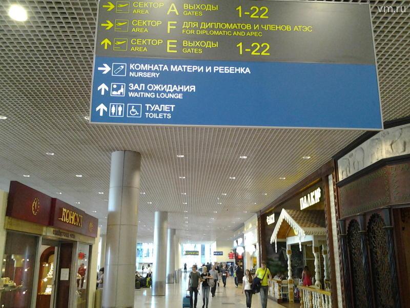 Нетрезвый пассажир упал со 2-го этажа вмосковском аэропорту Шереметьево