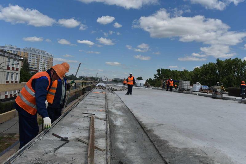 Строительство новой эстакады в восточном Бирюлеве завершается