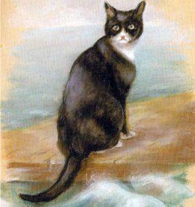 Пастельный рисунок живучего кота выполнила художница Джорджина Шоу-Бейкер