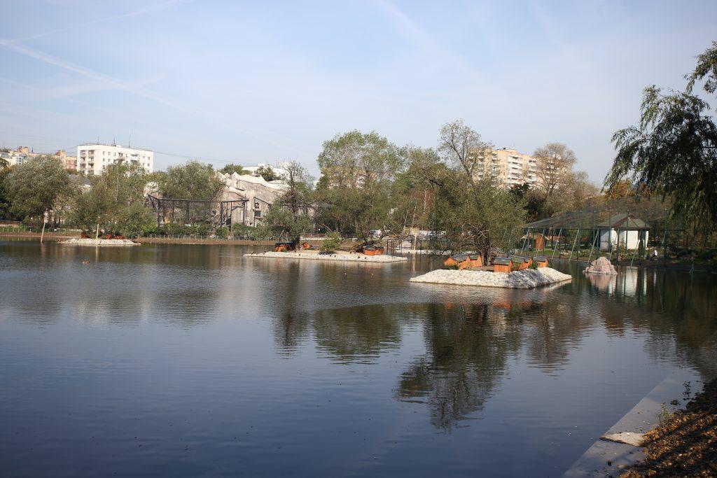 Очистные сооружения пруда на юге Москвы стали одними из крупнейших построенных с 2015 года объектов