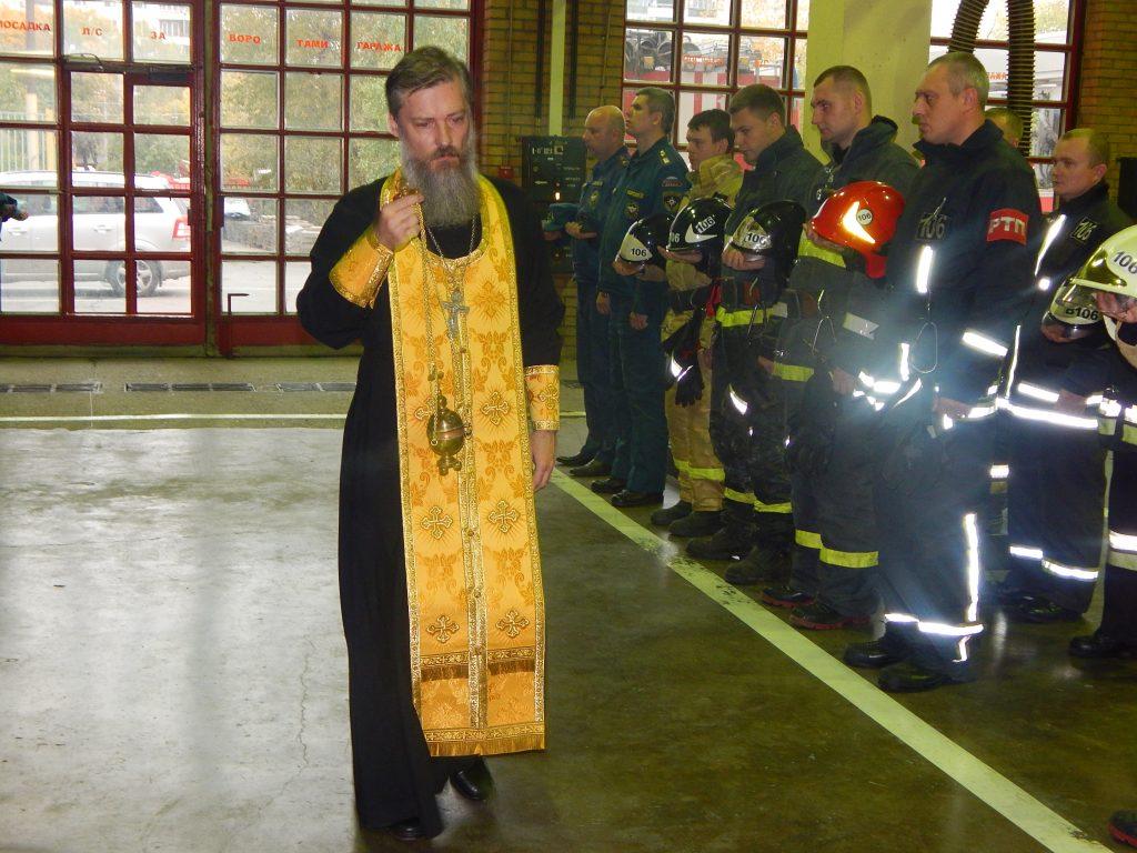 На территории Управления по ЮАО Главного управления МЧС России по Москве состоялся молебен