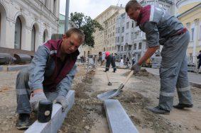 Мэр Москвы Сергей Собянин осмотрел ход благоустройства Пятницкой улицы