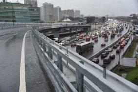 21 декабря 2015 Мэр Москвы Сергей Собянин открыл новуюэстакаду на транспортной развязке Можайского шоссе и МКАД