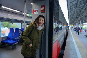 """В Международный женский день поезда МЦК будут работать с интервалом в шесть минут. Фото: архив, """"Вечерняя Москва"""""""
