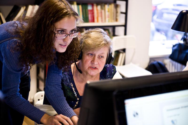 В Даниловском районе для пенсионеров организовали курсы по освоению компьютера