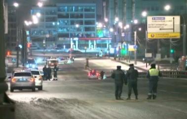 Полиция Москвы перекрыла Боровское шоссе из-за проверки машины на бомбу