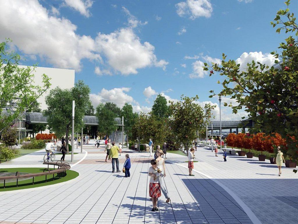 Жилой район с социальной инфраструктурой построят в составе пересадочного узла «Лесопарковая»