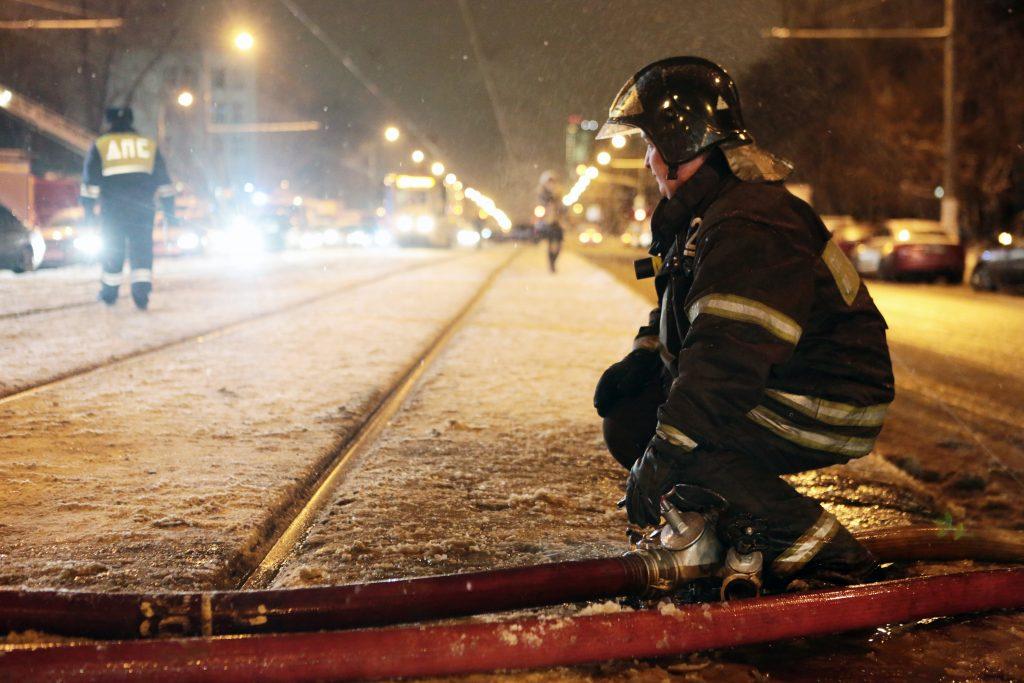 На юго-западе Москвы устранили пробку после ДТП с пылающей «Скорой»
