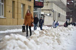 В Москве прошел Рекордный снегопад: выпало более 70% месячной нормы осадков