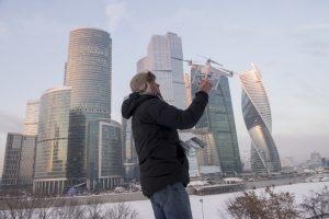 Москва-Сити в морозный день