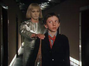 В роли робота Вертера в фильме «Гостья из будущего» (1985)