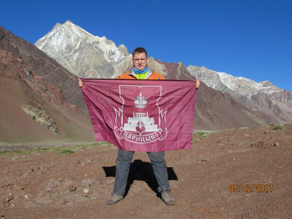5 февраля 2017 года. Альпинист Игорь Коровин на вершине аргентинской горы Аконкагуа
