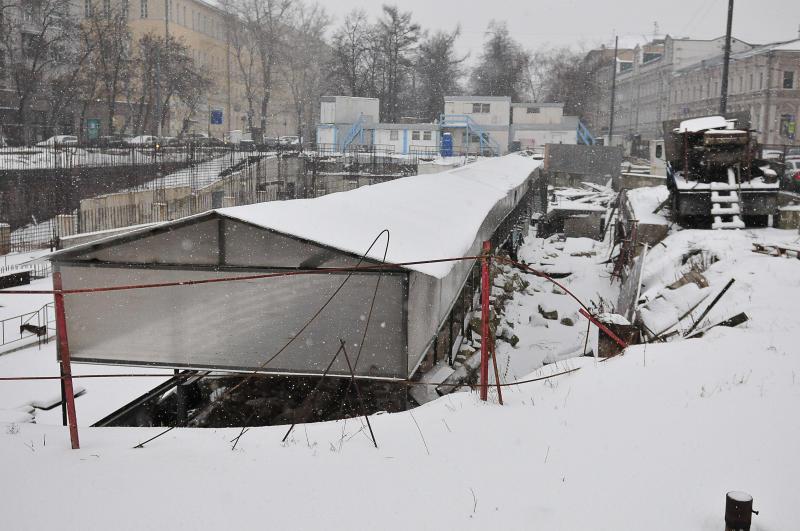 В ближайшее время завершится строительство подземного паркинга в Нагатинском затоне