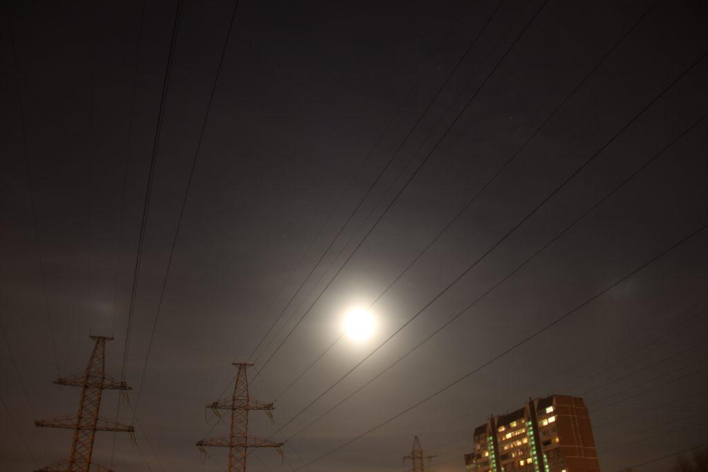 Параселена над Москвой. Фото: Филипп Романов
