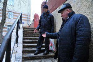 Для жителей дома на улице Кантемировская №22-2 восстановлена лестница. Фото: Светлана Колоскова