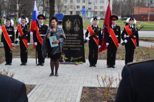 Галина Васина выступает с речью. Фото предоставила Валерия Луканина-Михалева