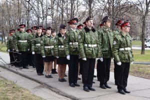 Кадеты перед торжественной линейкой. Фото предоставила Валерия Луканина-Михалева