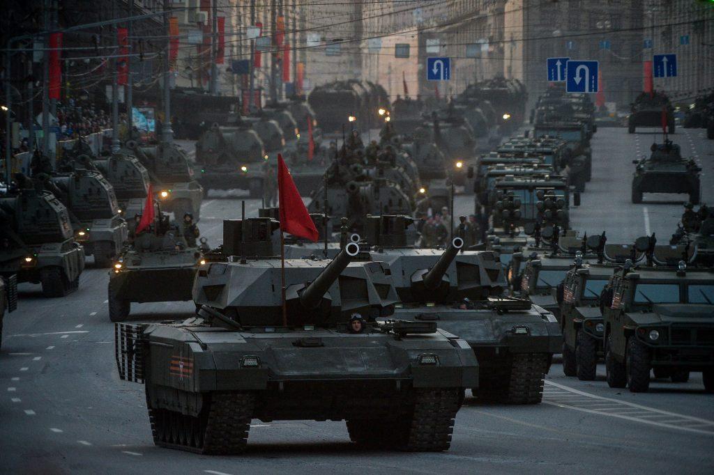 В столице России ограничат движение наземного транспорта всвязи срепетицией парада