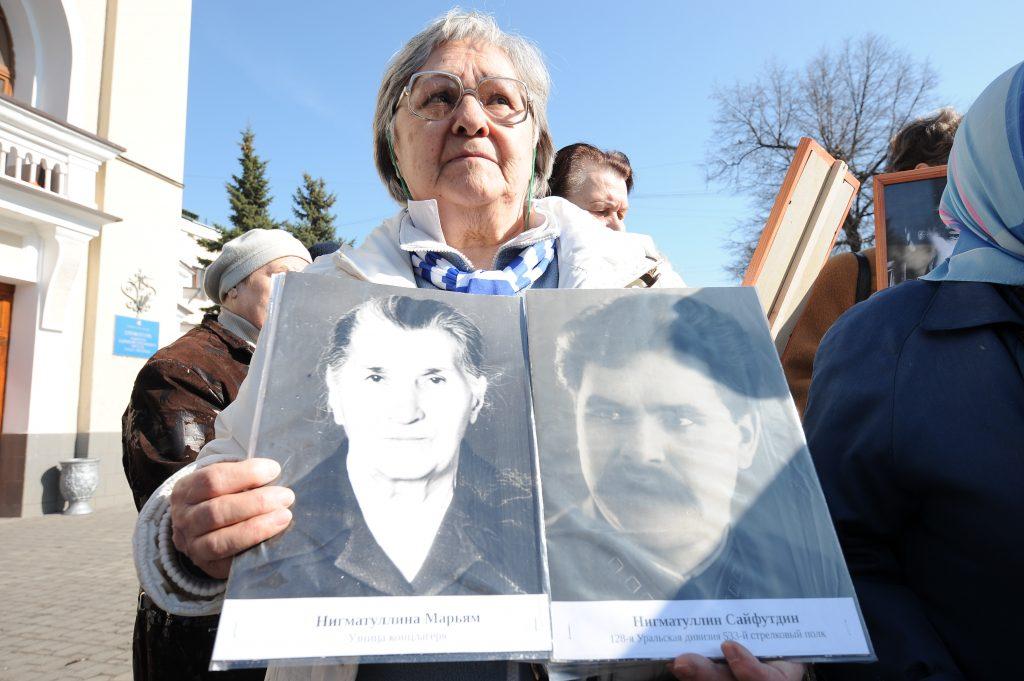 На Поклонной горе почтили память узников фашизма