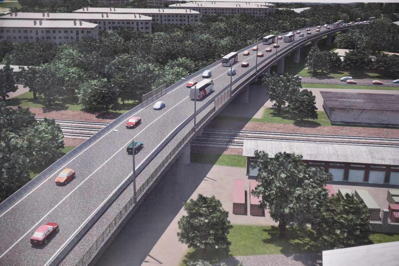 Строительство эстакады на Павелецком направлении железной дороги начнется в 2017 году