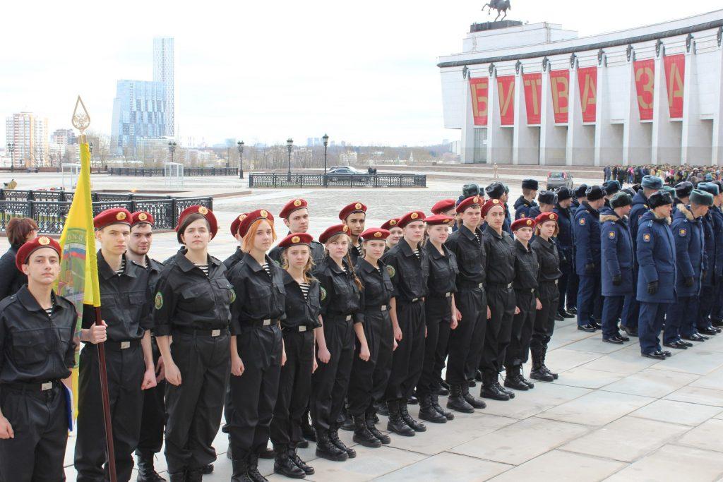 Команда клуба «Отвага» школы №896 заняла третье место в общегородских военно-патриотических соревнованиях