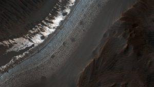 """В основе """"марсианского снега"""" - двуокись углерода. Фото: NASA"""