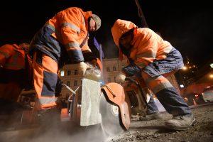 Шумные работы ночью не ведутся. Фото: Антон Гердо