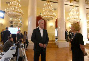 Мэр Москвы Сергей Собянин осмотрел пресс-центр Кубка конфедераций