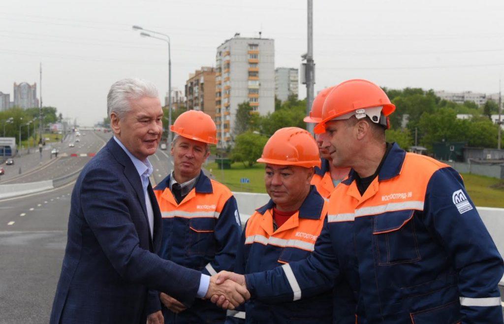 Собянин открыл движение по Аминьевскому шоссе после реконструкции