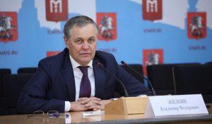 14 июня. Владимир Жидкин на пресс-конференции. Фото: Информационный центр Правительства Москвы