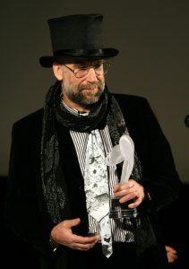 21 января 2008 года. Аниматор Иван Максимов на вручении Национальной премии кинокритики и кинопрессы «Белый слон». Фото: Photoxpres