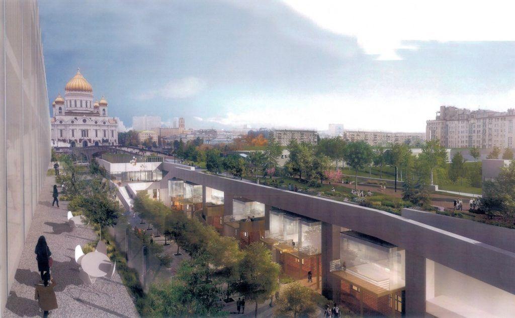 Кафе и музеи могут открыть под Патриаршим мостом в центре Москвы