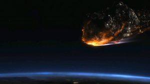 Столкновение с небесным телом подняло в воздух тучи сажи. Фото: скриншот YouTube