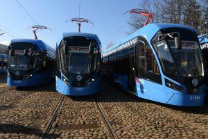 Расстояние между остановками на новой трамвайной линии от метро «Пражская» составит около 800 метров. Фото: архив, «Вечерняя Москва»