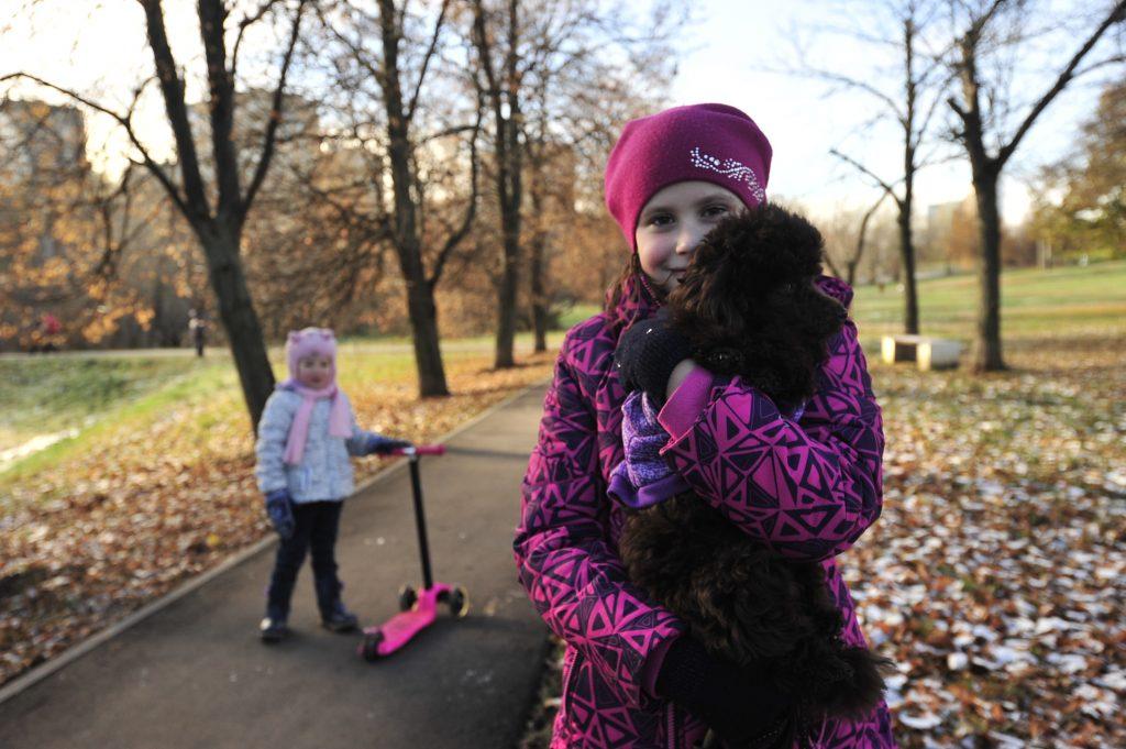 Юная Василиса Должникова часто прогуливается вдоль прудов с собакой и хотела бы видеть здесь благоустроенный парк со спортивной площадкой. Фото: Пелагия Замятина