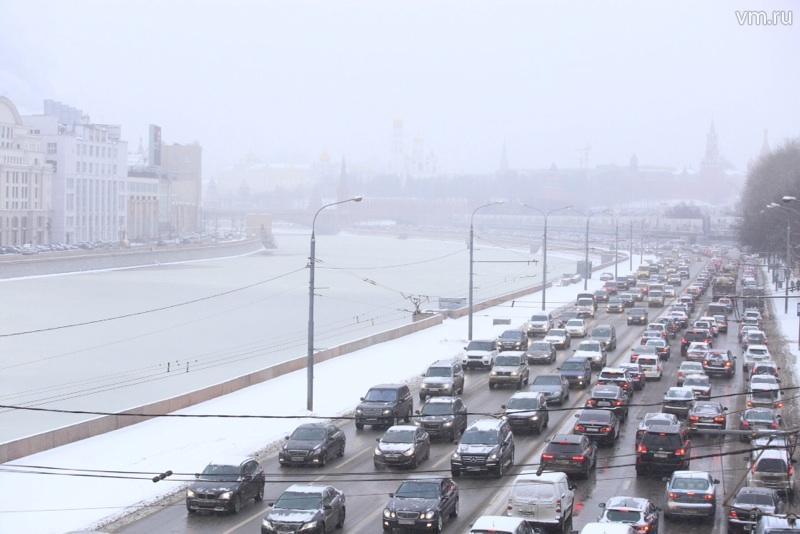 ЦОДД в Москве усилил работу из-за снегопада