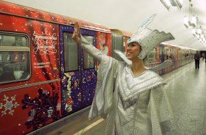 Более 30 тысяч человек встретили Новый год в метро Москвы