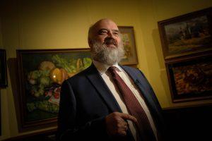 2 марта 2018 года. Сергей Андрияка на открытии юбилейной выставки в «Царицыне». Экспозиция будет доступна до 10 мая. Фото: Пелагия Замяьтна