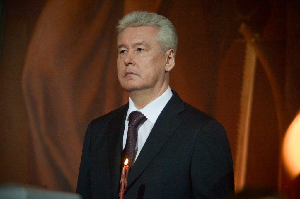 Собянин осмотрел ход капитального ремонта театра «Современник»