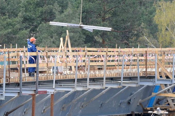 Начало реконструкции МКАДа на пересечении с Бесединским шоссе Южного округа. Фото: сайт Стройкомплекса